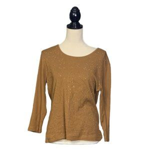 Chico's Brown Soft Top w/ Studding Sz M (1)